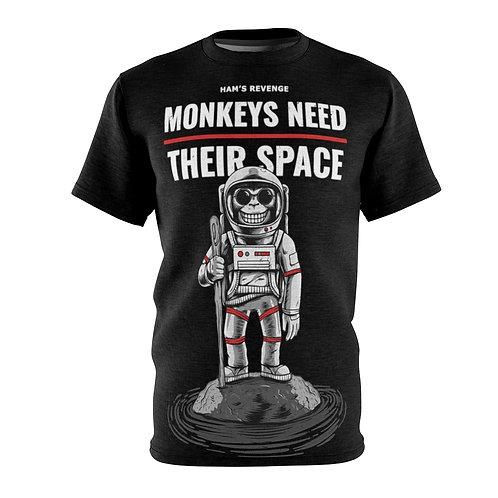 Monkeys Need Their Space - AOP Cut & Sew Tee