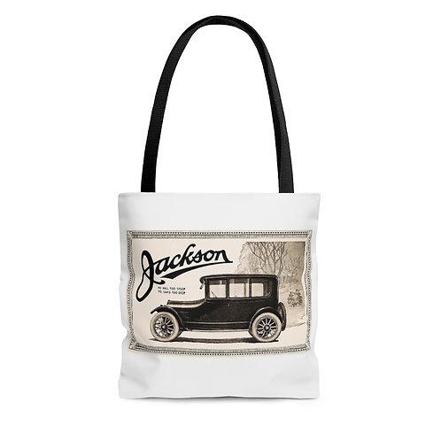 Jackson Automotive white tote bag