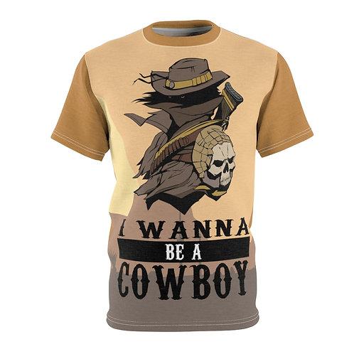 I Wanna Be A Cowboy - AOP Cut & Sew Tee