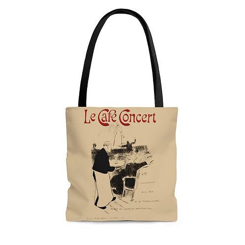 Toulouse-Lautrec's Le Cafe Concert tan tote