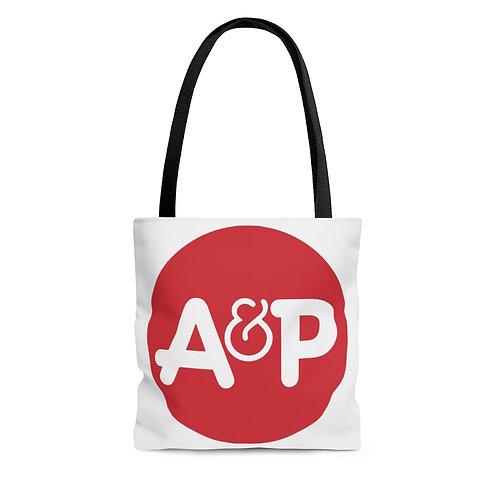 A&P white tote bag