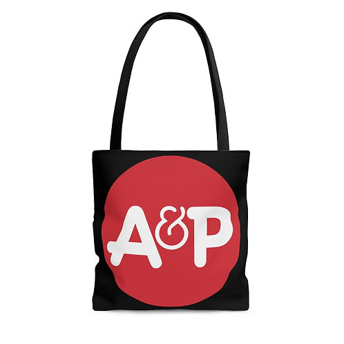 A&P black tote bag