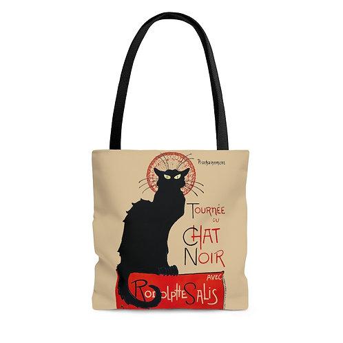 Toulouse-Lautrec's Tournee Du Chat Noir tan tote