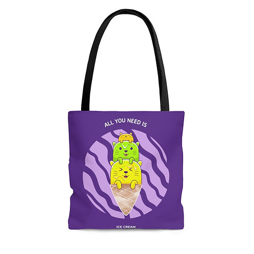 Catastic: All You Need purple tote