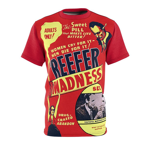 VMP Reefer Madness (red) - AOP Cut & Sew Tee
