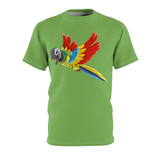 Excited Parrot (green) - AOP Cut & Sew Tee