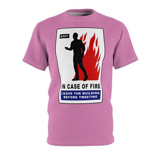 In Case of Fire (pink) - AOP Cut & Sew Tee