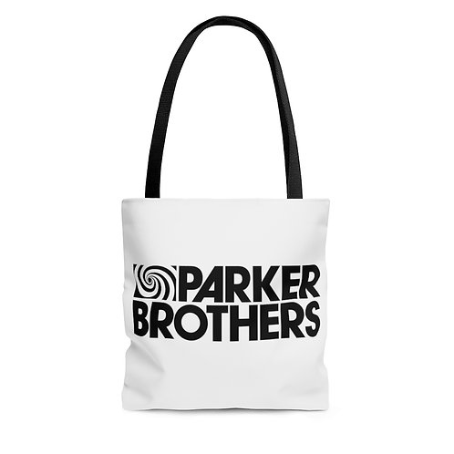 Parker Brothers white tote bag