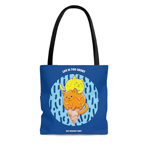 Catastic: Life Is Too Short blue tote