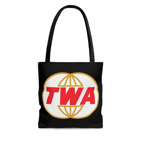 TWA black tote bag