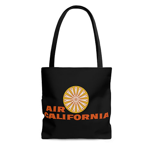 Air California black tote bag