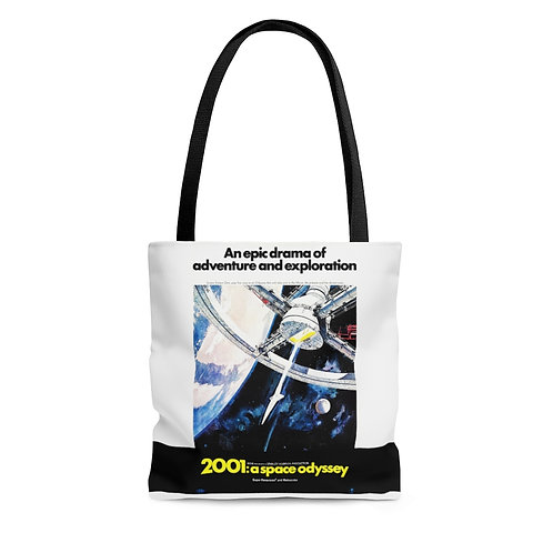 2001:a space odyssey white tote