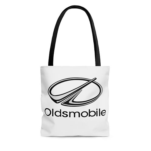 Oldsmobile 80s white tote bag