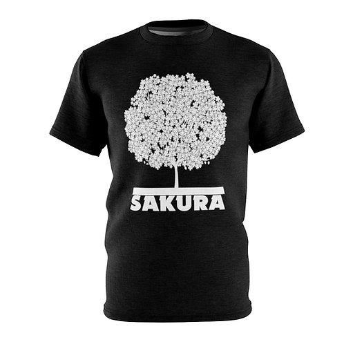 Sakura (black) - AOP Cut & Sew Tee