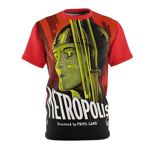 VMP Metropolis (light red) - AOP Cut & Sew Tee