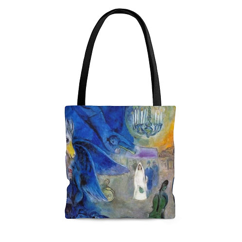 Mark Chagall's The Wedding Candles black tote