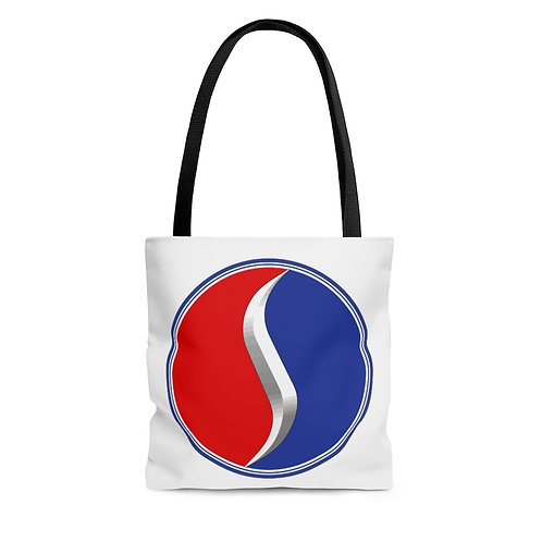 Studebaker white tote bag