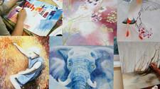 Malen mit Aquarell-, Acryl- und Ölfarben/ Urdorf