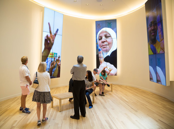 National Center for Civil & Human Rights Media Oval Exhibit