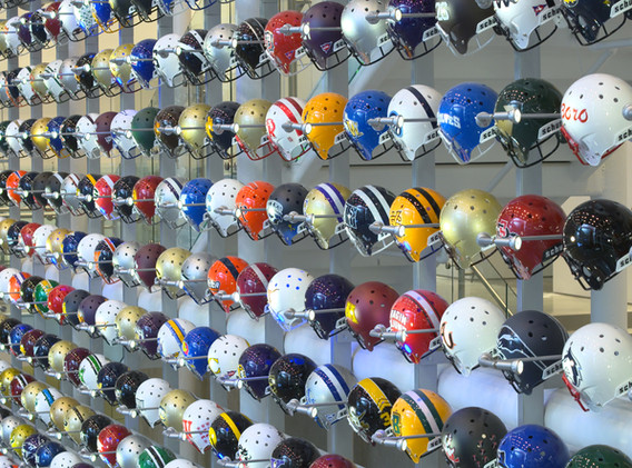 College Football Hall of Fame Helmet Wall