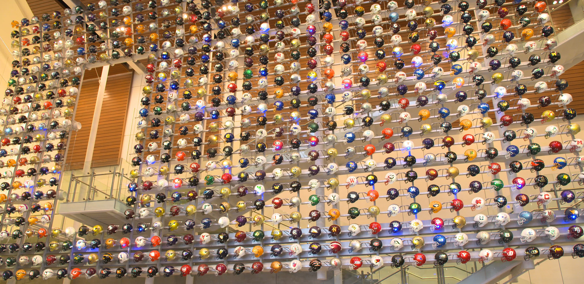 College Football Hall of Fame Helmet Wall