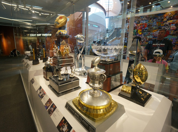 College Football Hall of Fame Trophy Case
