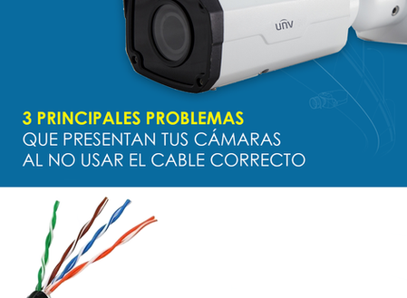 3 principales problemas que presentan tus cámaras al no utilizar el cableado correcto