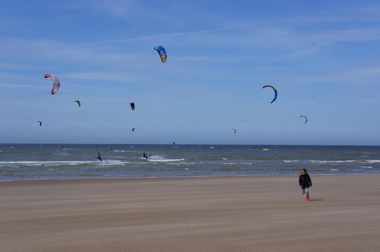 Sangatte la plage des Kite surf et planches