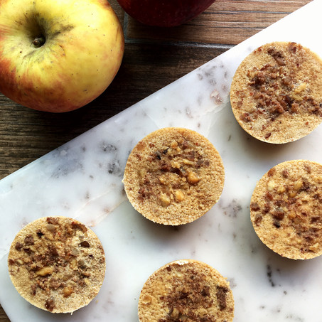 Chocolate Peanut Butter Apple Crumble Bites