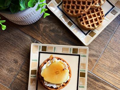 Cinnamon Pear Ricotta Waffles (Keto & Gluten Free)