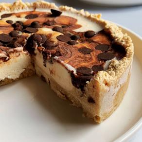 Hazelnut Caramel Cookie Dough Ice Cream Cake (Low Carb & Gluten Free)