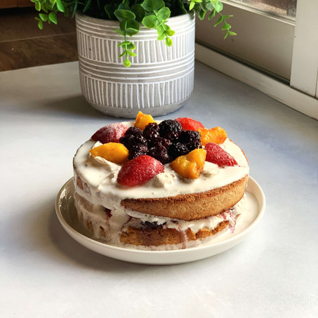 Berry Tres Leches Cake (Gluten Free & Low Carb)