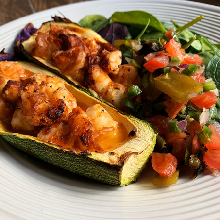 Shrimp Enchilada Boats (Keto, Low Carb)
