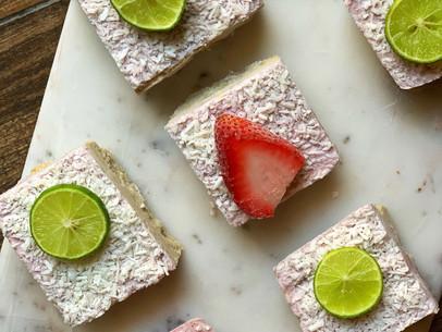 Coconut Strawberry Lime Bars (Vegan & Gluten Free)