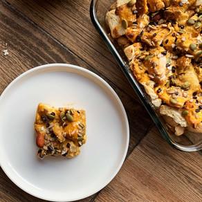 Cheesecake Pumpkin Bread Pudding Casserole (Gluten Free & Vegan)