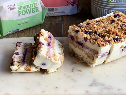 Breakfast Blueberry Icebox Cake (Vegan & Gluten Free)