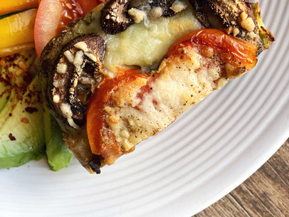 Pesto Sandwich Bake (Gluten Free & Keto)
