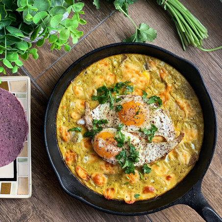 Chilaquiles Frittata Skillet (Gluten Free & Low Carb)