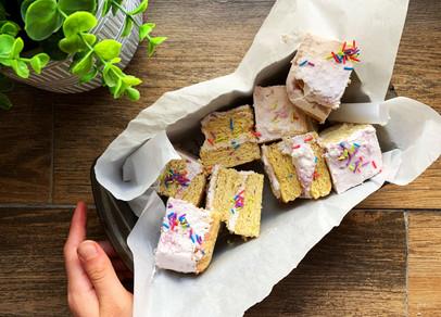 Strawberry Keto Twinkie Cake (Gluten Free)