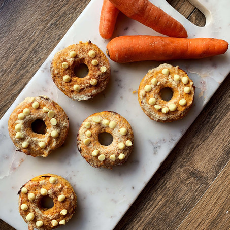 Carrot Cake Paleo Donuts (Low Carb)
