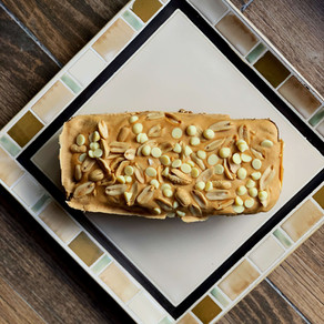 White Chocolate Peanut Butter Cake (Keto & Gluten Free)