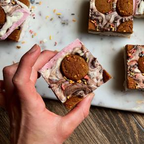 Neapolitan Birthday Cookie Cheesecake (Gluten Free & Keto)