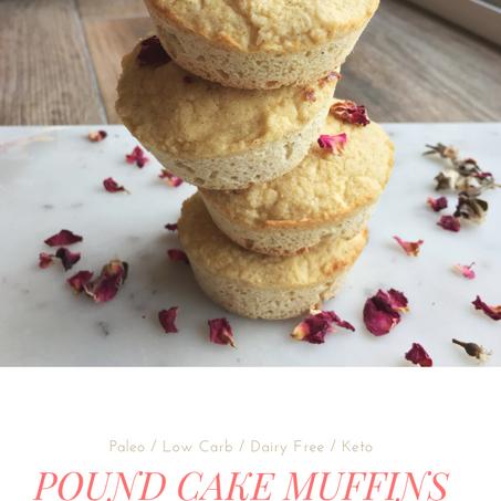 Pound Cake Muffins (Keto & Paleo)