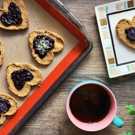 Peanut Butter Blueberry Jam Cookies (Low Carb & Gluten Free)