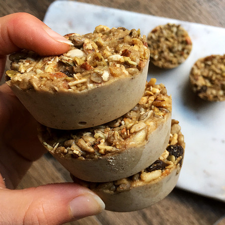 Sunflower Butter Morning Bites (Seed Cycling, Low Carb, Vegan)
