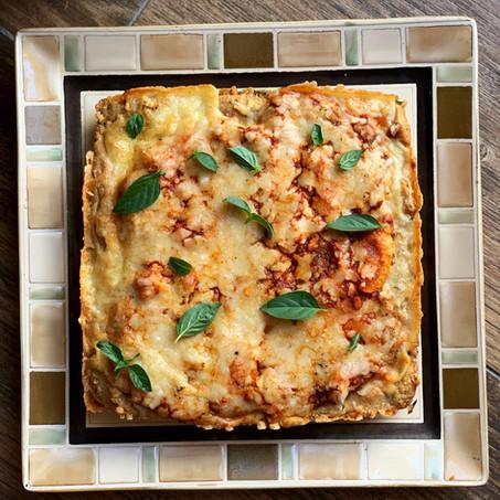 Easiest Detroit Style Pizza (Gluten Free & Vegetarian)