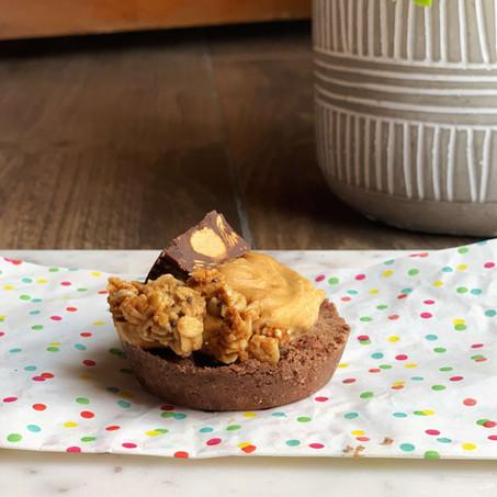 Peanut Butter Cookie Dough Brookies (Vegan & Low Carb)