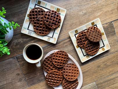 Mocha Ricotta Waffles (Keto & Gluten Free)