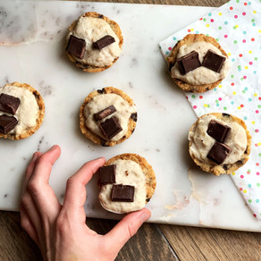 Banana Cookie Cream Pies (Gluten Free & Keto)