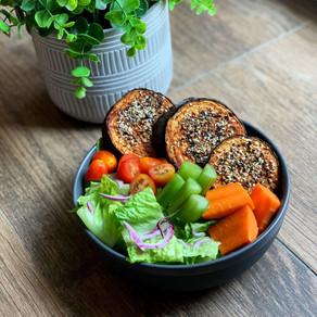 Everything Bagel BBQ Eggplant (Vegan & Keto)
